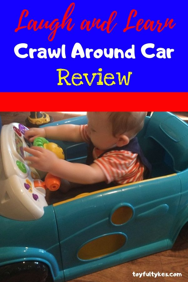 Laugh and Learn Crawl Around Car Review-baby playing in toy car-toyfultykes