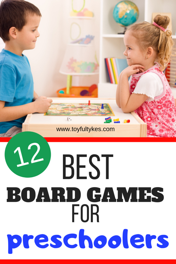 Board Games for Preschoolers-Two kids playing a board game-toyfultykes