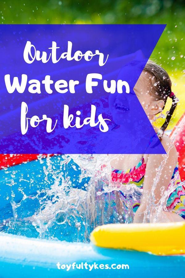 Outdoor water fun for kids-girl splashing in kiddie pool-toyfultykes