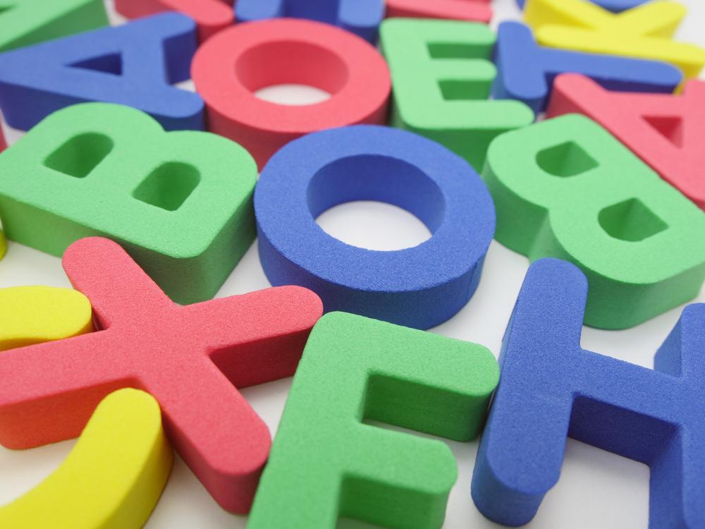 Big colorful foam letters