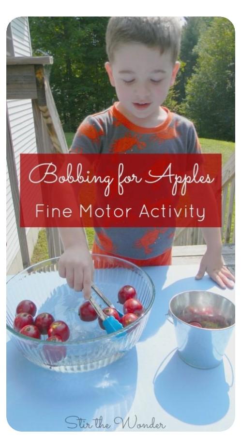 Bobbing for Apples Fine Motor Activity