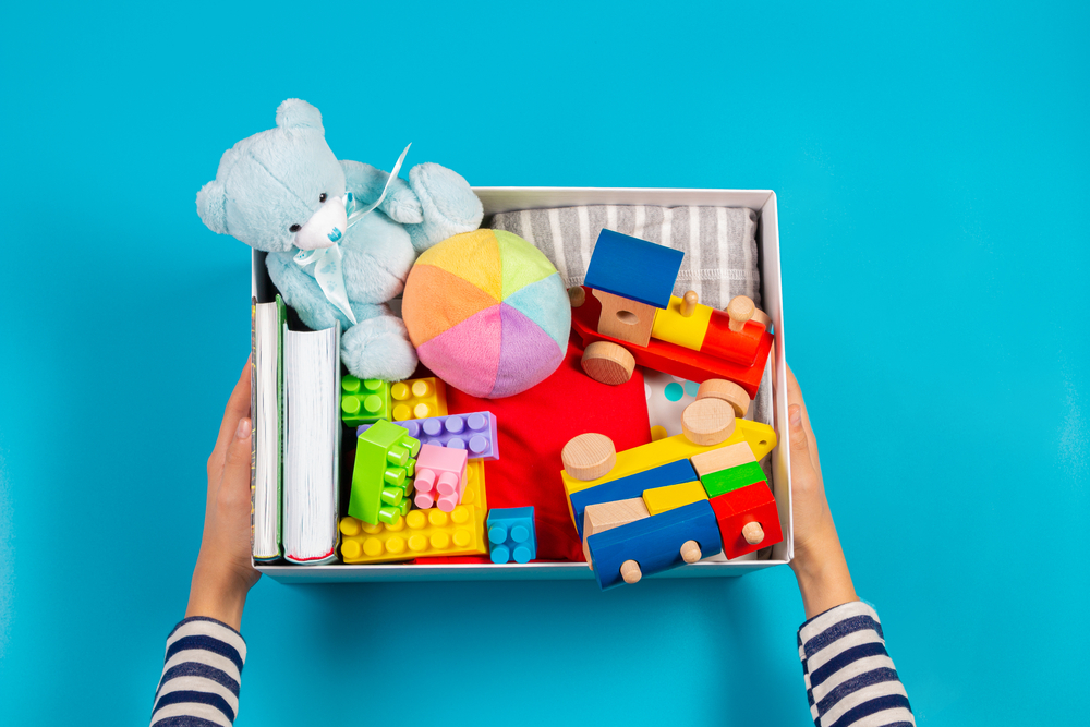 Box of toys for sorting activity
