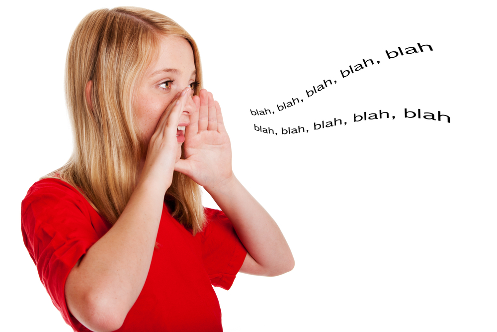 Child speaking out loud