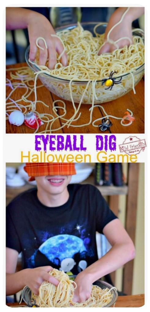 Eyeball Dig Halloween Game