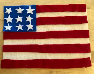 American flag made out of felt