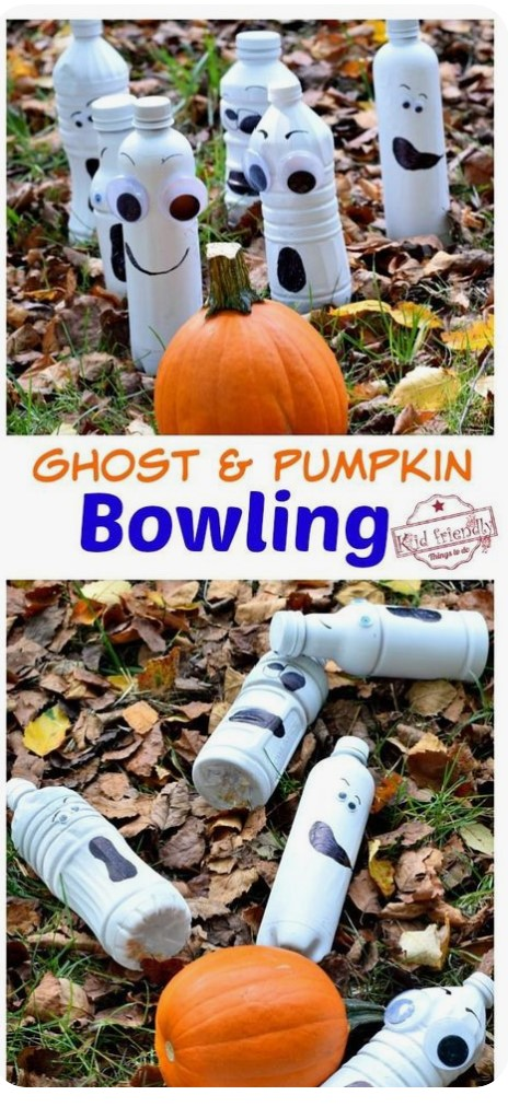 Ghost and Pumpkin Bowling