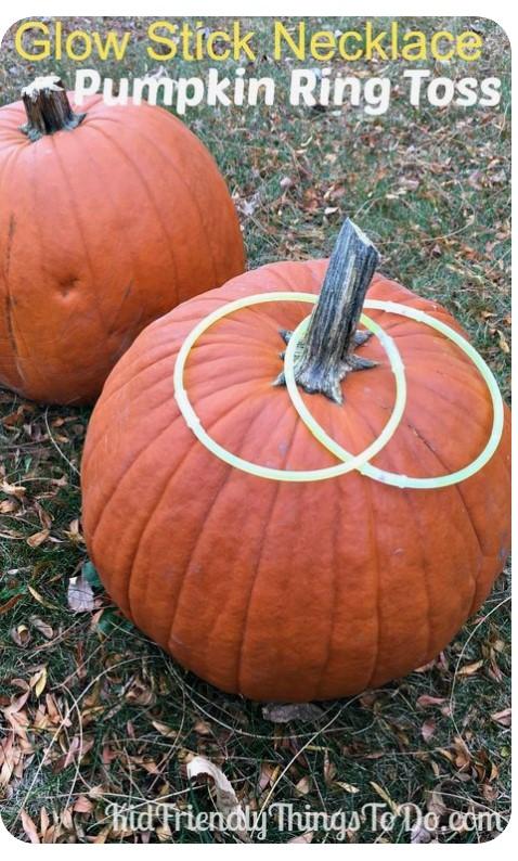 Glow Stick Necklace Pumpkin Ring Toss