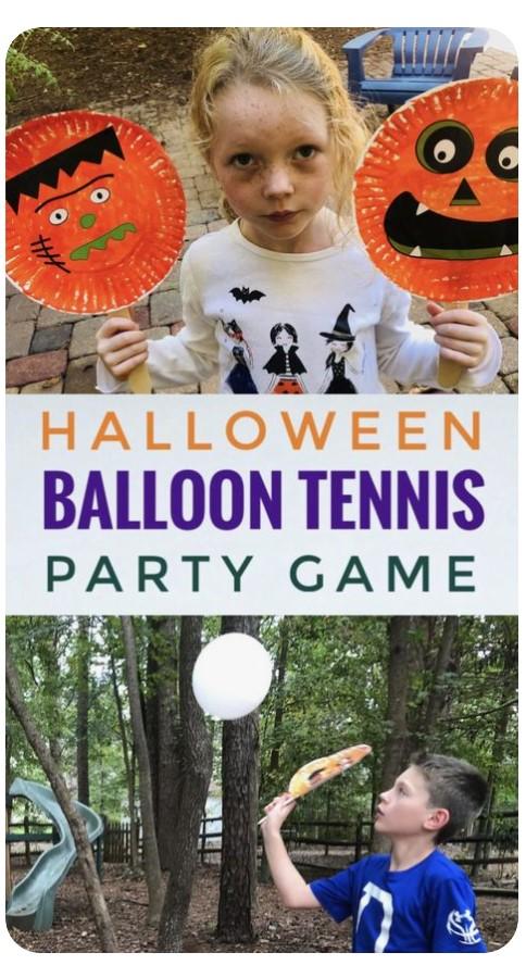 Halloween Balloon Tennis