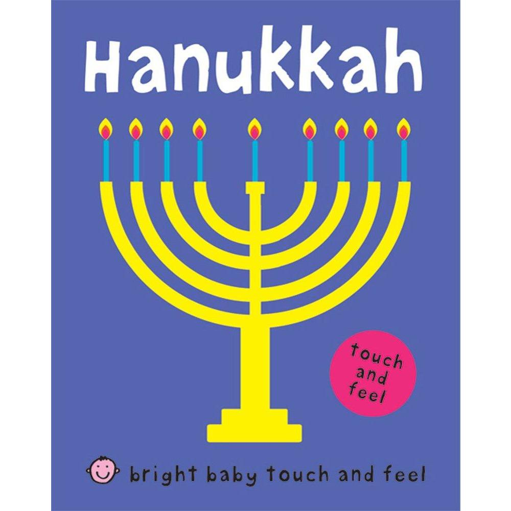 Cover of holiday book for kids: Bright Baby Touch and Feel Hanukkah