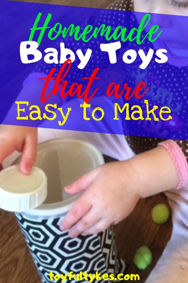 Homemade Baby Toys-baby playing with a canister toy-toyfultykes
