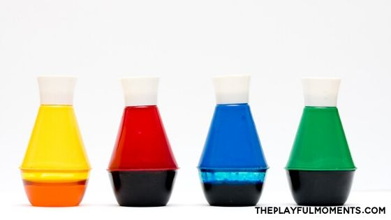 Jars of Food Coloring
