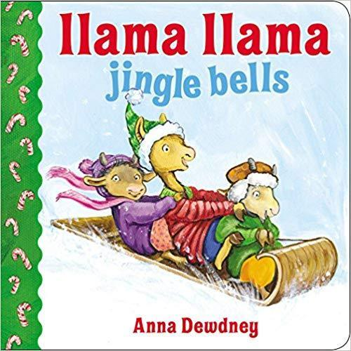 Cover of holiday book for kids: Llama Llama Jingle Bells by Anna Dewdney