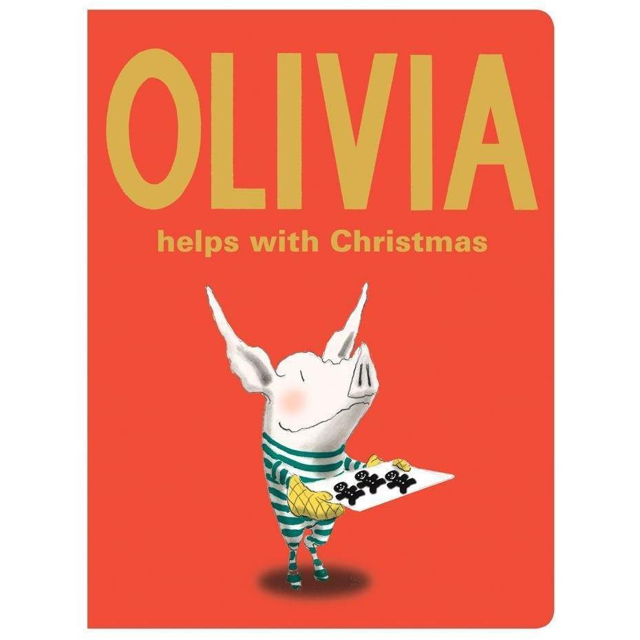 Cover of holiday book for kids: Olivia Helps with Christmas