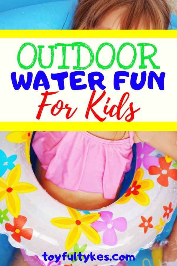 Outdoor Water Fun for Kids-Girl relaxing in pool-toyfultykes
