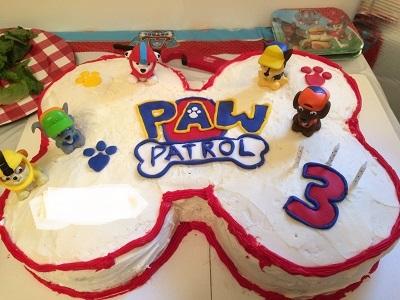 Kids Birthday Party Ideas-Paw Patrol Birthday Cake-toyfultykes