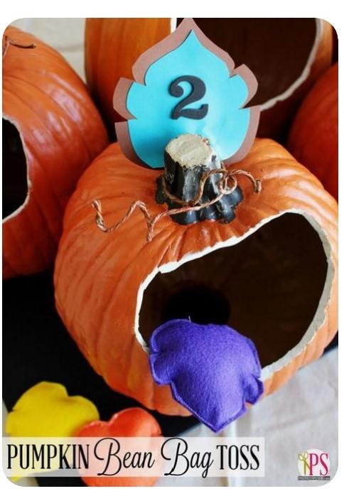 Pumpkin Bean Bag Toss