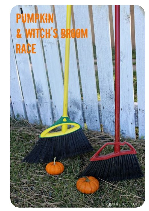 Pumpkin and Witches Broom Race